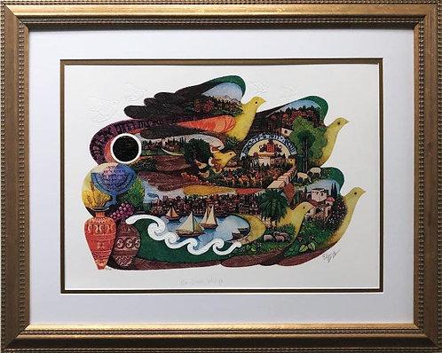 """Amram Ebgi """"On Doves Wings"""" FRAMED Signed & # Art"""