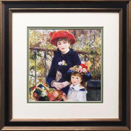 "Pierre Auguste Renoir ""Two Sisters on the Terrace"" Framed Art Print"
