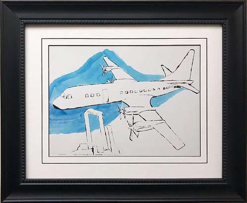 "Andy Warhol "" Airplane, c. 1959"" FRAMED Pop Art"