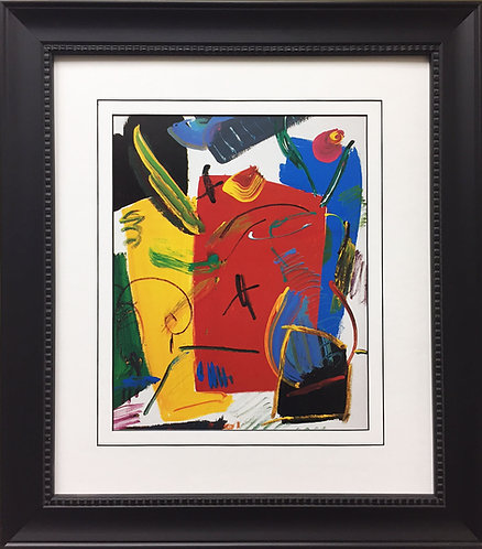 """Peter Max """"Abstract Suite V - Vase of Flowers III"""""""