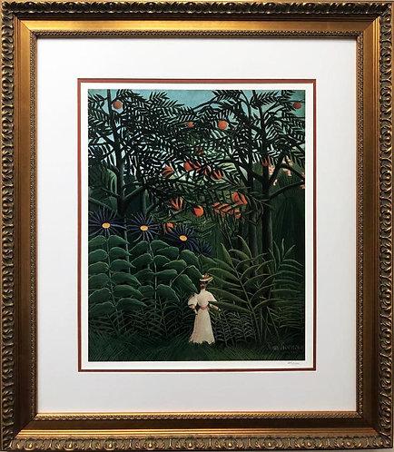"Henri Rousseau ""Woman Walking in an Exotic Forest"" FRAMED"