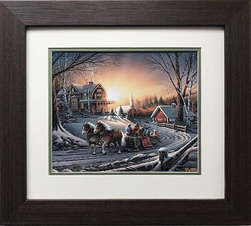 """Terry Redlin """"The Pleasures of Winter"""" FRAMED  Art"""
