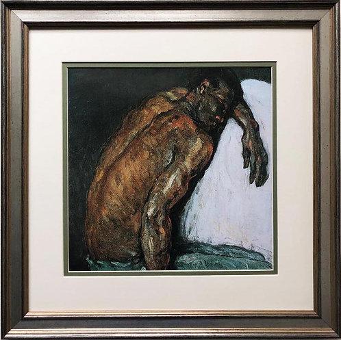 """Paul Cezanne """"The Scipio Man """" 1869 Custom Framed Art Print"""