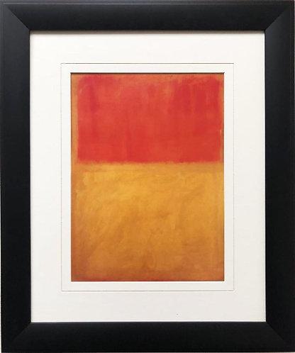 """Mark Rothko """"Orange and Tan """" 1954 FRAMED Art"""