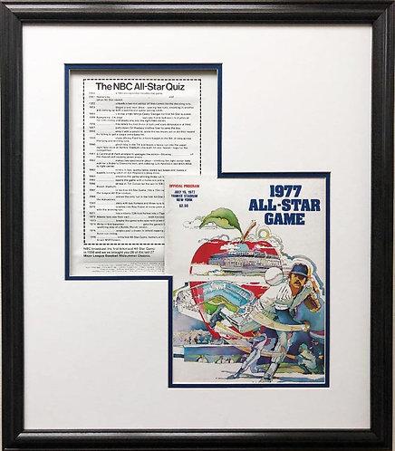 """Baseball """"1977 All Star Game Program"""" Framed"""