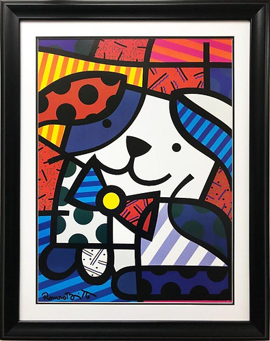 "Romero Britto ""Ginger"" NEW CUSTOM FRAMED Pop Art"
