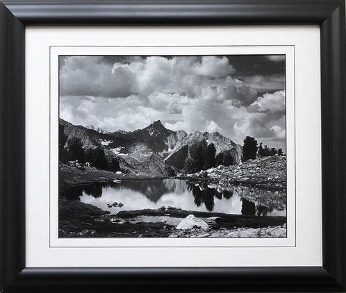 """Ansel Adams """"Mt. Clarence King, King Canyon"""" Custom Framed NEW ART Reflections"""