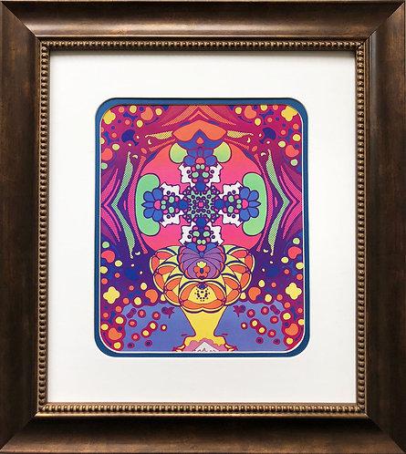 "Peter Max ""2000 Light Years "" New CUSTOM FRAMED Print Pop Art Psychedelic"