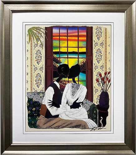 """Leroy Campbell """"Candied Yams"""" Hand Signed African American Gullah Art"""