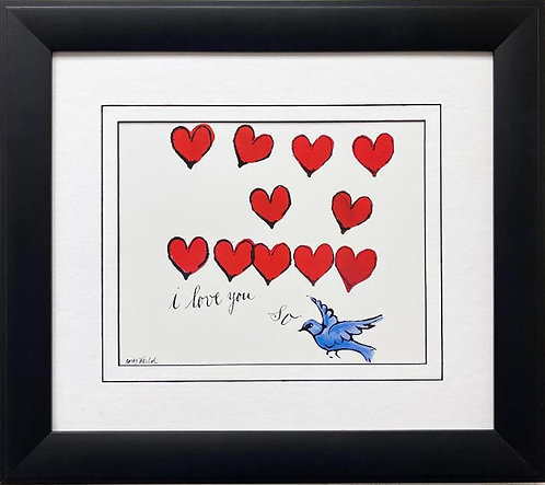 "Andy Warhol ""I Love You So"" 1958 CUSTOM FRAMED Pop Art Lithograph"