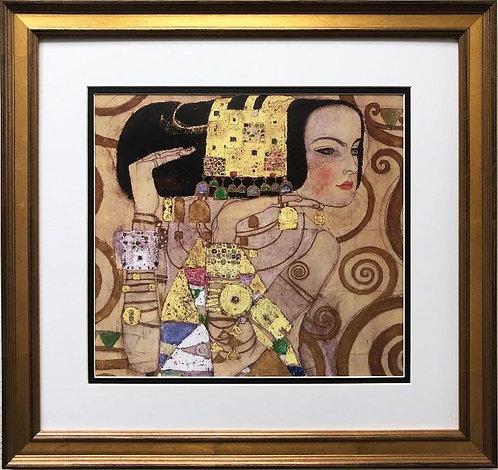 """Gustav Klimt """"Die Erwartung-Stoclet Fireze"""" (Tree of Life- Detail) FRAMED ART"""