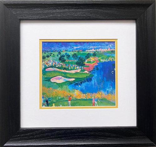 """LeRoy Neiman """"Sam Snead Teeing Off at Vintage Intl"""" FRAMED Art Print"""