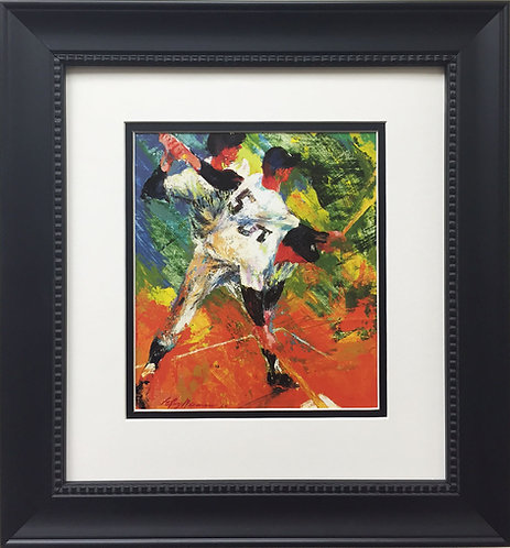 "LeRoy Neiman ""Joe DiMaggio (The Yankee Clipper)"" CUSTOM FRAMED ART PRINT Yankees"