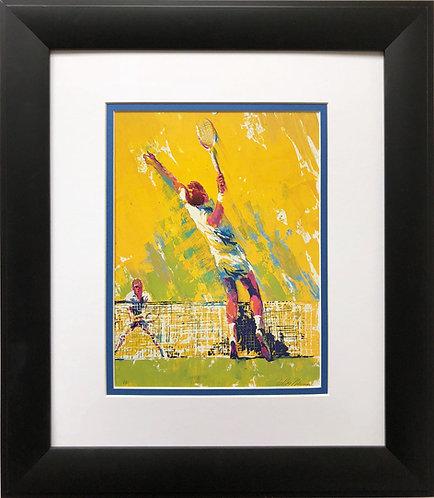 "LeRoy Neiman ""Deuce '72""  Art Print Tennis Court Sports Serve"