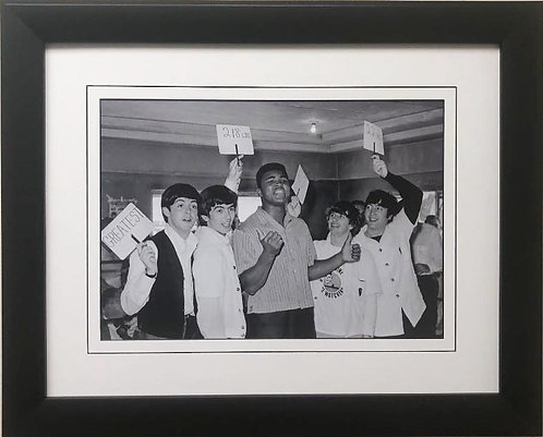 "The Beatles Collection ""Meeting Cassius Clay"" Framed Poster"