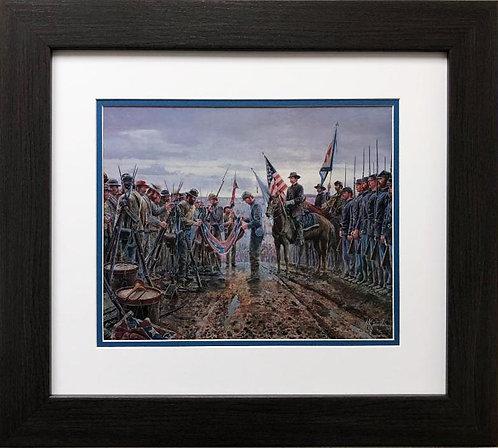 """Mort Kunstler """"Salute of Honor"""" NEW CUSTOM FRAMED Civil War Art"""