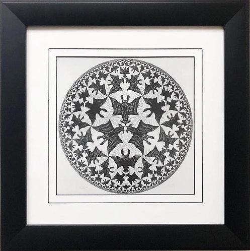 """M.C.Escher """"Circle Limit IV """" 1960 FRAMED Art"""