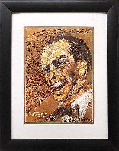 "LeRoy Neiman ""Sinatra  - Fountainebleau""   NEW Art  Miami Beach Frank La Ronde"