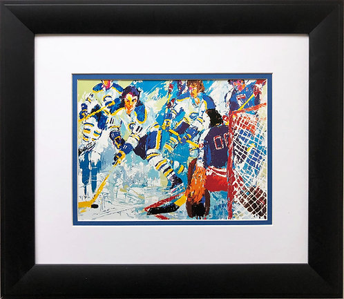"LeRoy Neiman ""French Connection '77""  Hockey Art Rangers Sabres Sports USA"