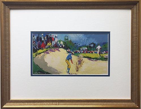 "LeRoy Neiman ""Payne Stewart The Masters"" Newly Custom FRAMED ART PRINT Golf PGA"