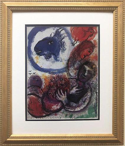 """Marc Chagall """"The Blue Goat"""" New CUSTOM FRAMED Art Rare Poster"""