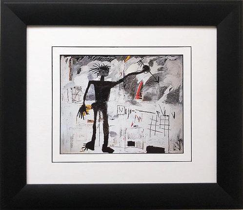 "Jean Michel Basquiat ""Self Portrait"" CUSTOM FRAMED Pop Art"