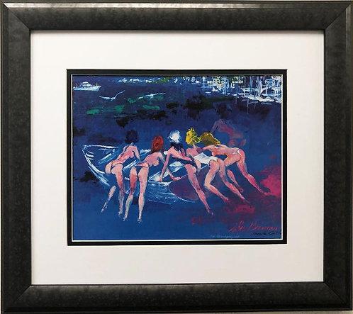 """LeRoy Neiman """"Six Baigneuses"""" (6 bathers) CUSTOM FRAMED Art"""