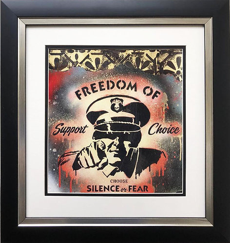 "Shepard Fairey ""Freedom of Choice"" CUSTOM FRAMED Art Print"