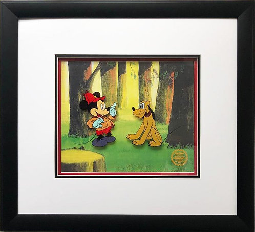"Disney ""Pointer (Mickey) with Pluto"" FRAMED Lmtd. Edition ART Animation Sericel"