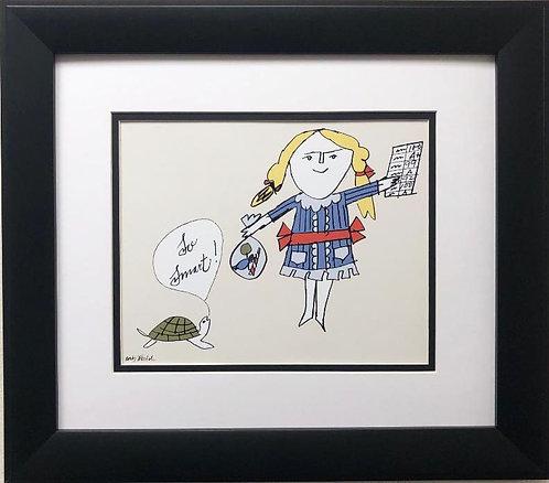 "Andy Warhol ""So Smart"" CUSTOM FRAMED Pop Art Litho"