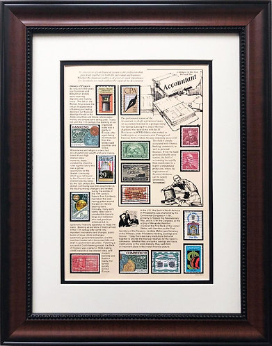 "Stamps ""Accountant"" Framed Stamp Art"