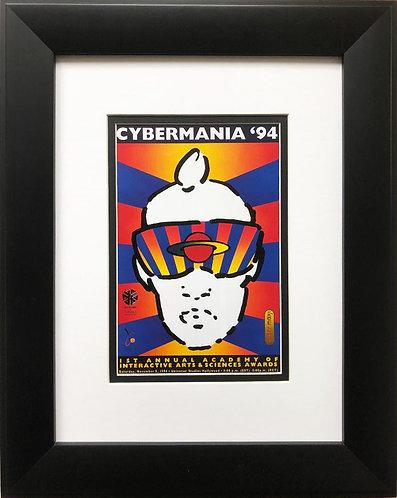 "Peter Max ""Cybermania"" Newly CUSTOM FRAMED Print Art"