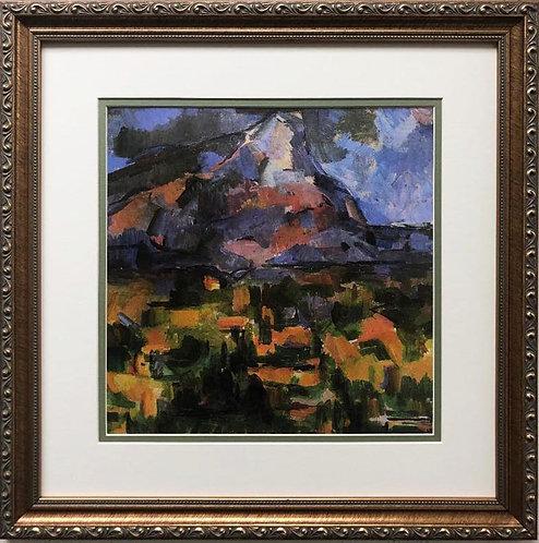 """Paul Cezanne """"Mont Saint-Victoire from des Lauves"""" Custom Framed Art Print"""