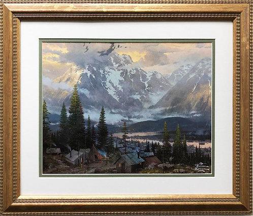"""Thomas Kinkade """"Great North"""" New CUSTOM FRAMED Art"""