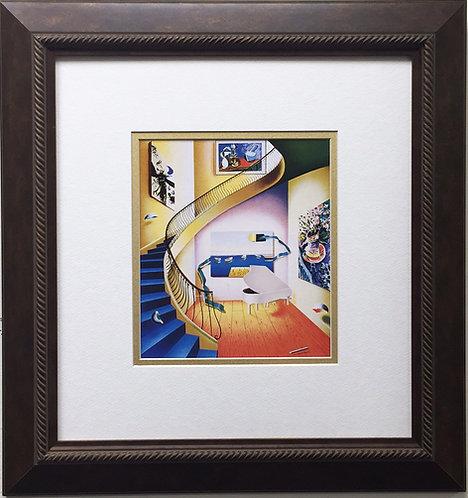 "FERJO ""The Piano"" Newly CUSTOM FRAMED ART Print Surrealism Miro Picasso chagall"
