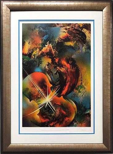 "Leonardo Nierman ""Sound of Color- Mozart"" Framed Art"