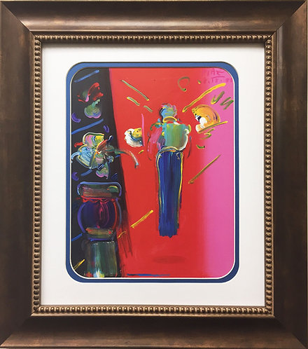 """Peter Max """"Sage With Vase of Flowers"""" (1988)"""
