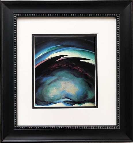 "Georgia O'Keeffe ""Series I- From the Plains"" Art Custom Framed"
