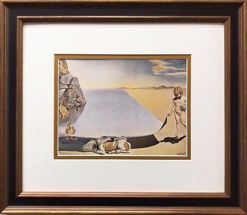 "Salvador Dali ""Dali at the Age of Six"" CUSTOM FRAMED ART"