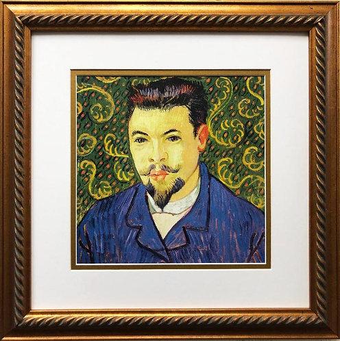 "Van Gogh ""Portrait of Dr. Felix Ray"" Framed Art Print"