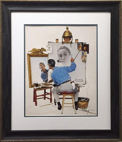 """Norman Rockwell """"Triple Self-Portrait"""""""