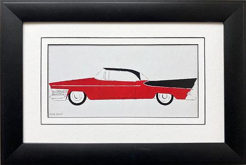 "Andy Warhol ""Car"" (red) 1959 CUSTOM FRAMED Pop Art Lithograph"