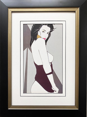"Patrick Nagel ""Untitled #85"" NEW CUSTOM FRAMED Art Deco Print"