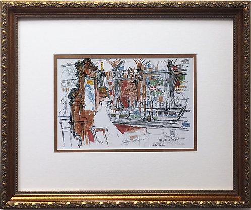 """LeRoy Neiman """"Stags Head Bar - Dublin"""" Newly Custom FRAMED Art print Dame Court"""