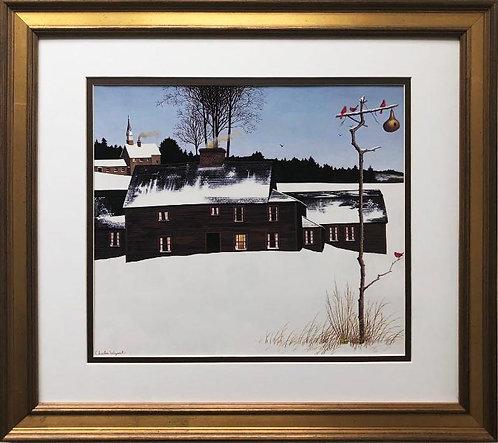 """Charles Wysocki """"Cold Blanket"""" New CUSTOM FRAMED Art"""