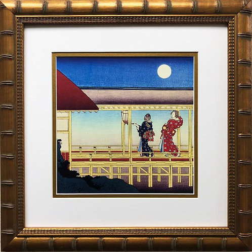 "Katsushika Hokusai ""Akazome Emon"" 1830 Custom Framed Asian Art"