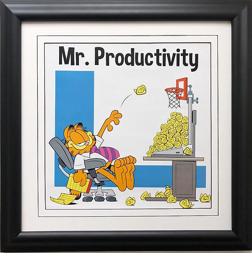 "Jim Davis ""Mr. Productivity!"" Custom FRAMED Office Art Print"