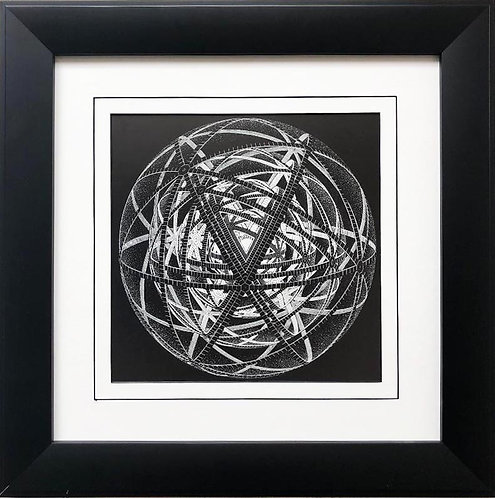 "M.C.Escher ""Concentric Rinds"" 1953 CUSTOM FRAMED Art"