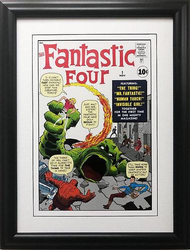 "Marvel ""The Fantastic Four"" # 1 Framed Poster Comic Book Art"
