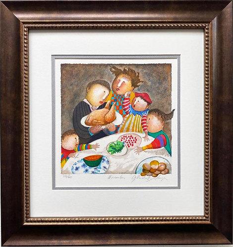 """G.R. Boulanger """"November"""" Signed & # FRAMED ART"""